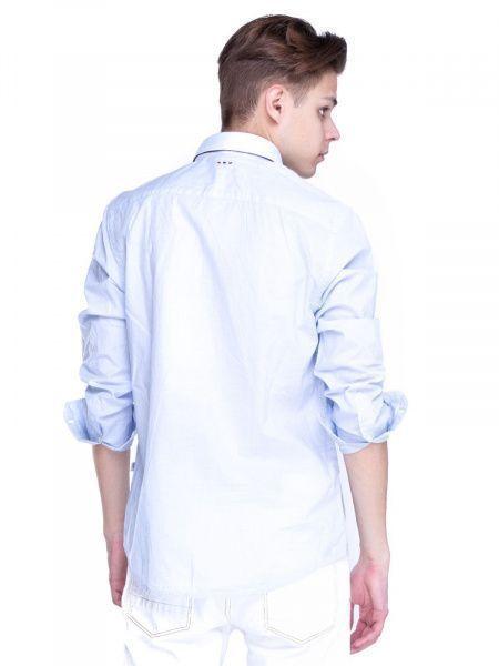 Рубашка с длинным рукавом для мужчин Napapijri ZS1408 примерка, 2017