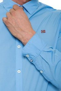 Рубашка с длинным рукавом мужские Napapijri модель ZS1571 купить, 2017