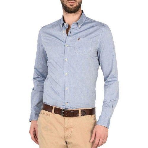 Рубашка с длинным рукавом мужские Napapijri модель N0YGRX176 цена, 2017