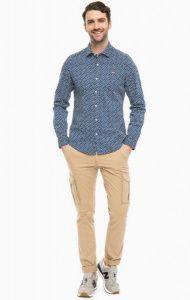 Рубашка с длинным рукавом мужские Napapijri модель ZS1791 приобрести, 2017