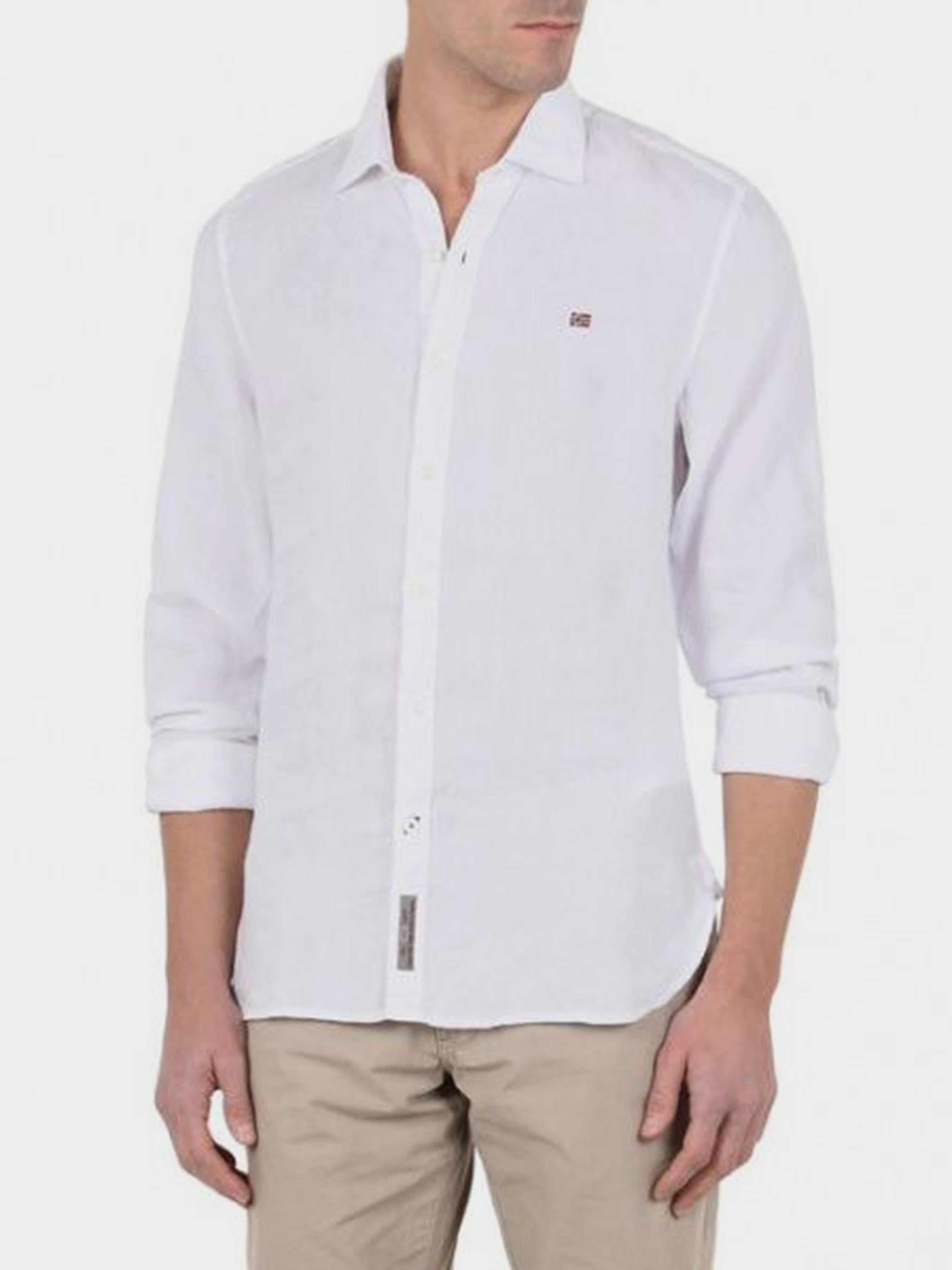 Рубашка с длинным рукавом мужские Napapijri модель ZS1801 , 2017