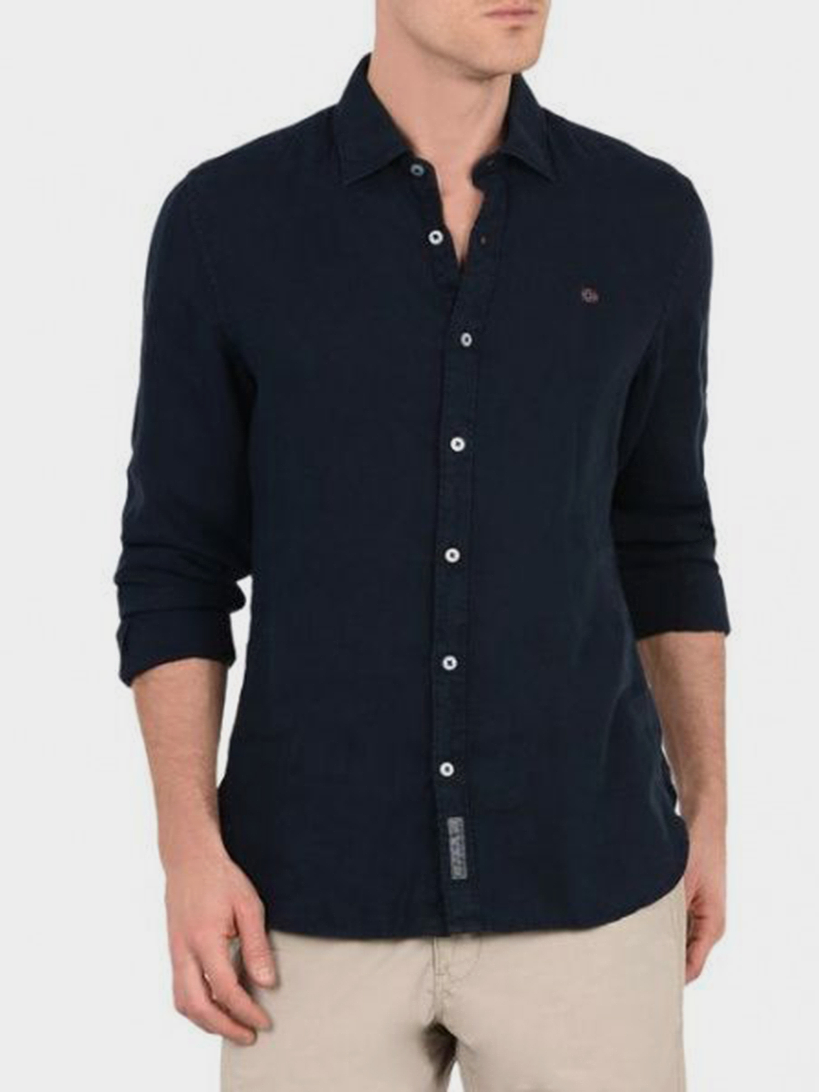 Рубашка с длинным рукавом мужские Napapijri модель ZS1802 , 2017