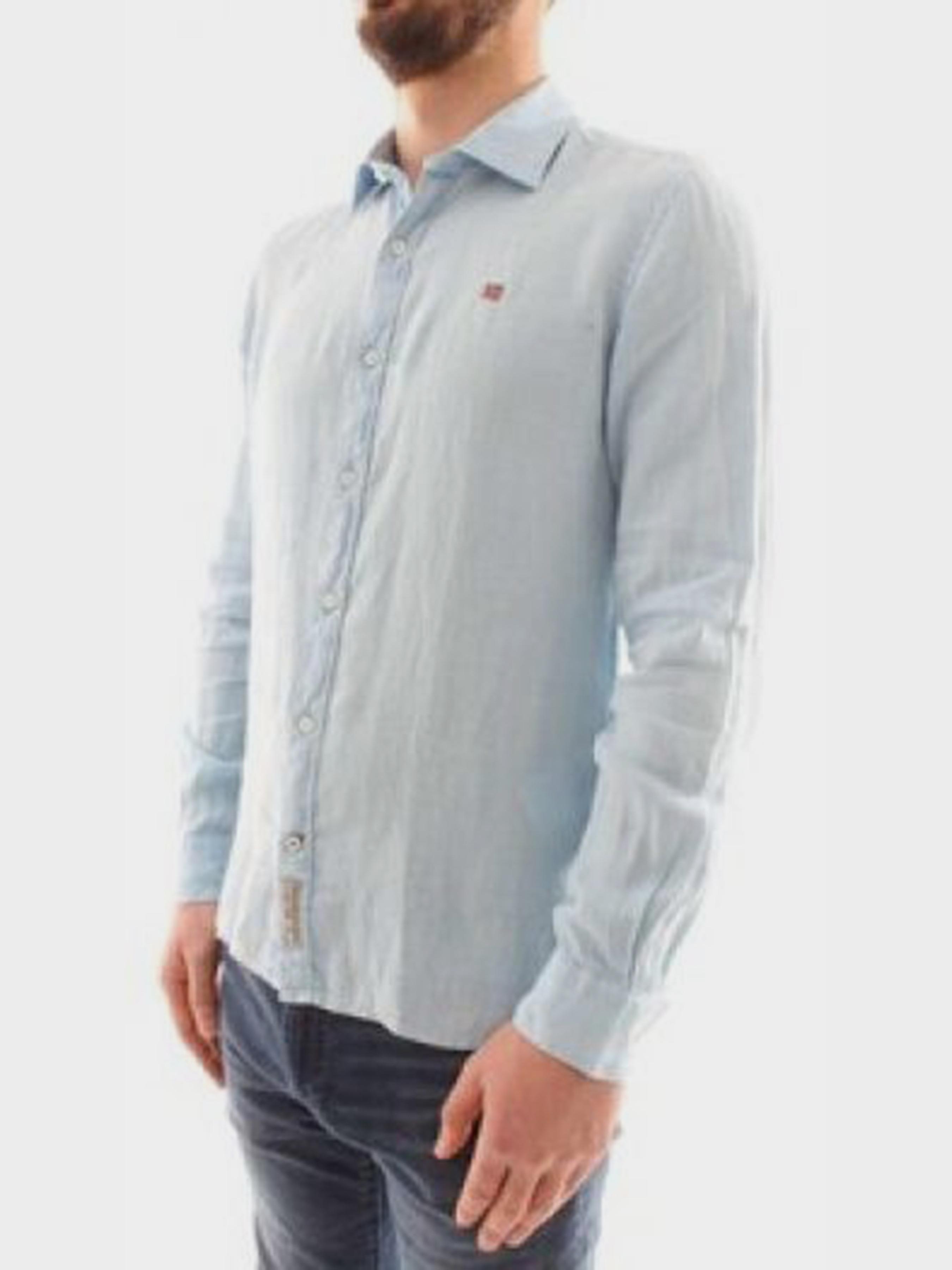 Рубашка с длинным рукавом мужские Napapijri модель ZS1803 , 2017