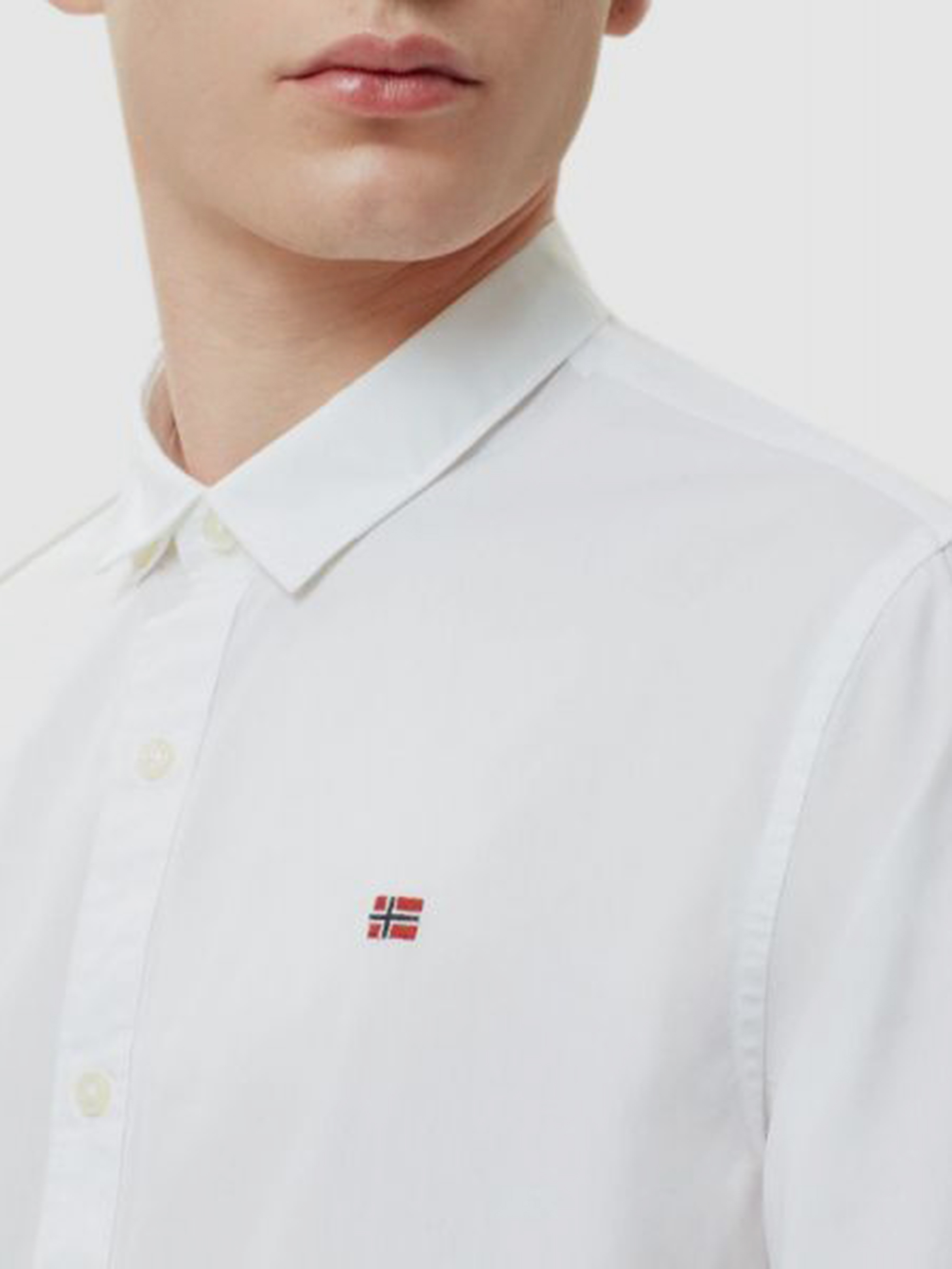 Рубашка с длинным рукавом мужские Napapijri модель ZS2210 цена, 2017