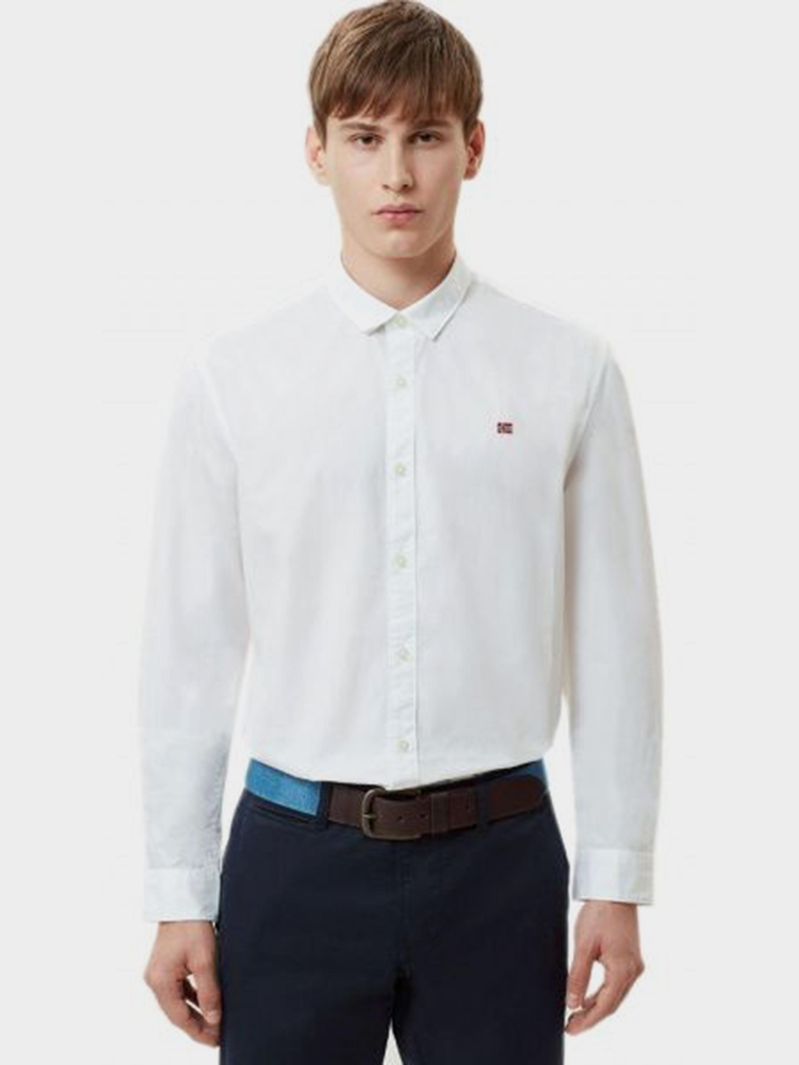 Рубашка с длинным рукавом мужские Napapijri модель ZS2210 , 2017