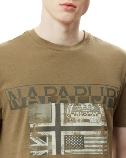 Футболка Napapijri модель N0YIJEGD6 — фото 5 - INTERTOP