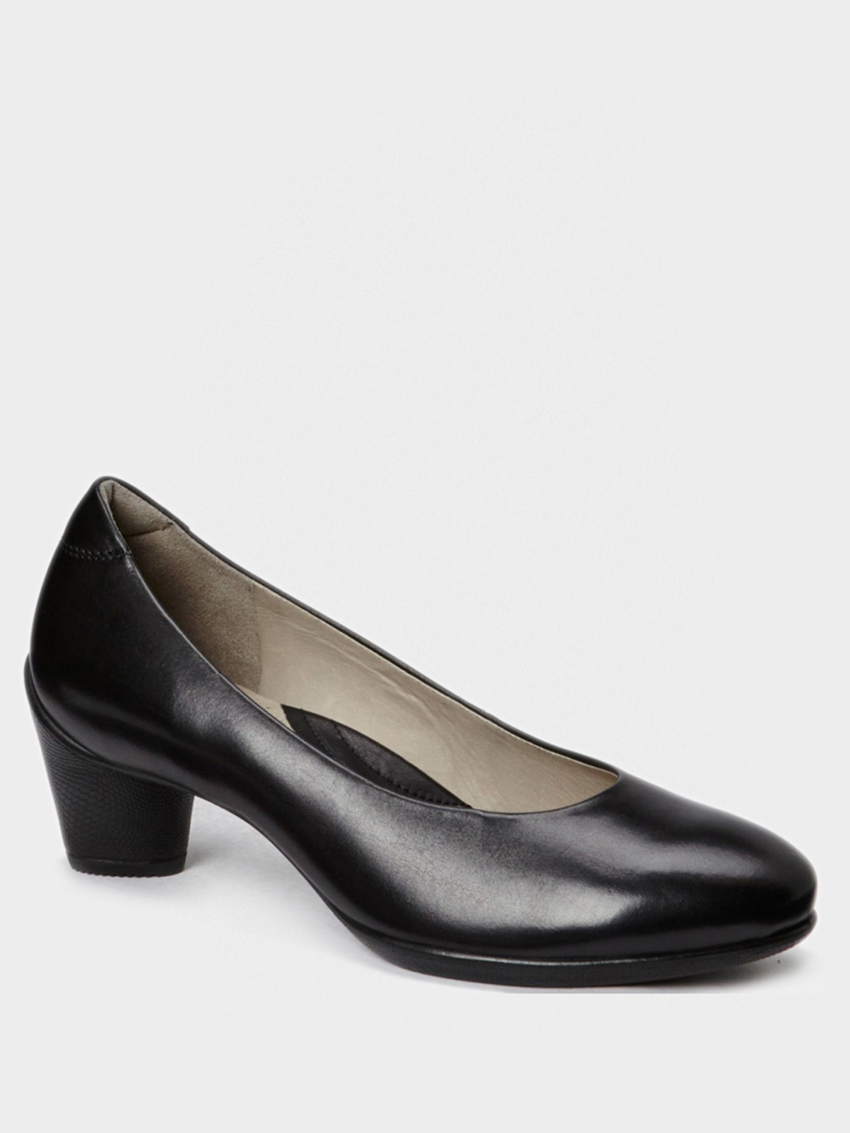 жіночі туфлі ecco sculptured 45 230203(01001) шкіряні