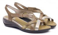 Женские сандалии серые, фото, intertop