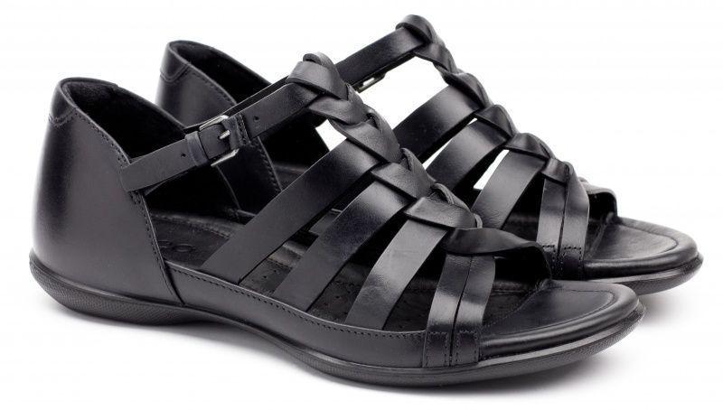 жіночі сандалі ecco flash 240793(02001) шкіряні