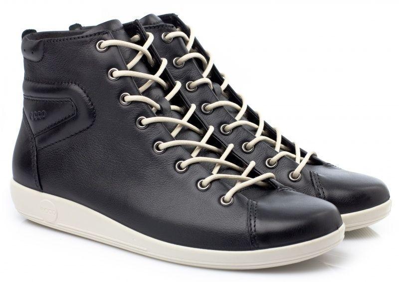 жіночі черевики ecco soft 2.0 206523(01001) шкіряні