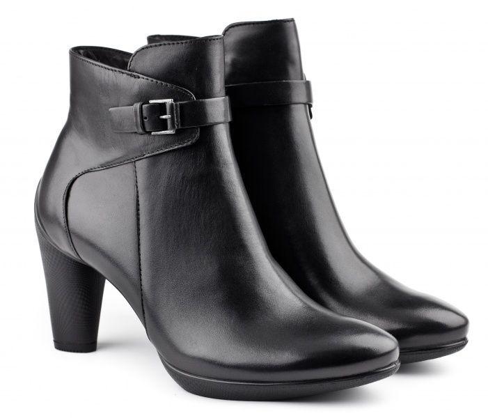 жіночі черевики ecco sculptured 75 242773(01001) шкіряні