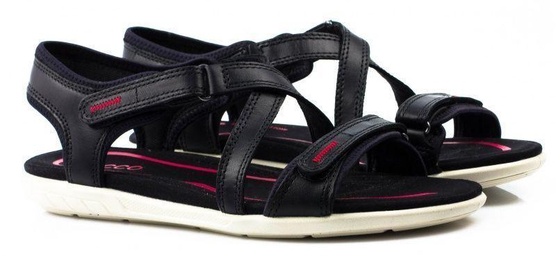 жіночі сандалі ecco bluma sandal 249203(01001) шкіряні