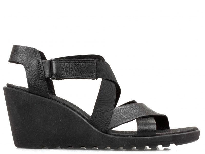 жіночі босоніжки ecco freja wedge sandal 249623(01001) шкіряні фото 2