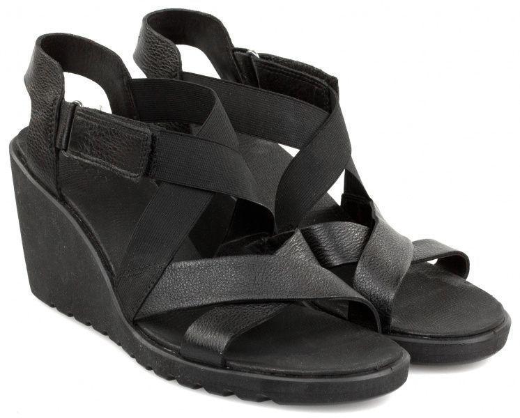 жіночі босоніжки ecco freja wedge sandal 249623(01001) шкіряні