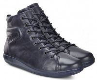 Женские ботинки синие, фото, intertop
