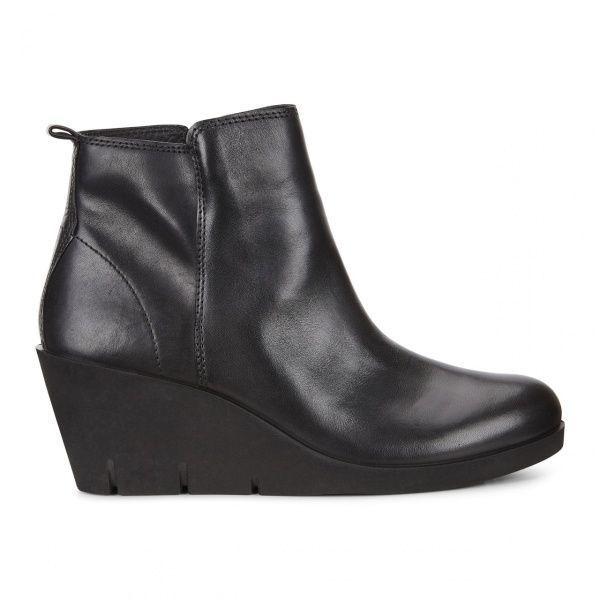 жіночі черевики ecco bella wedge 282503(01001) шкіряні
