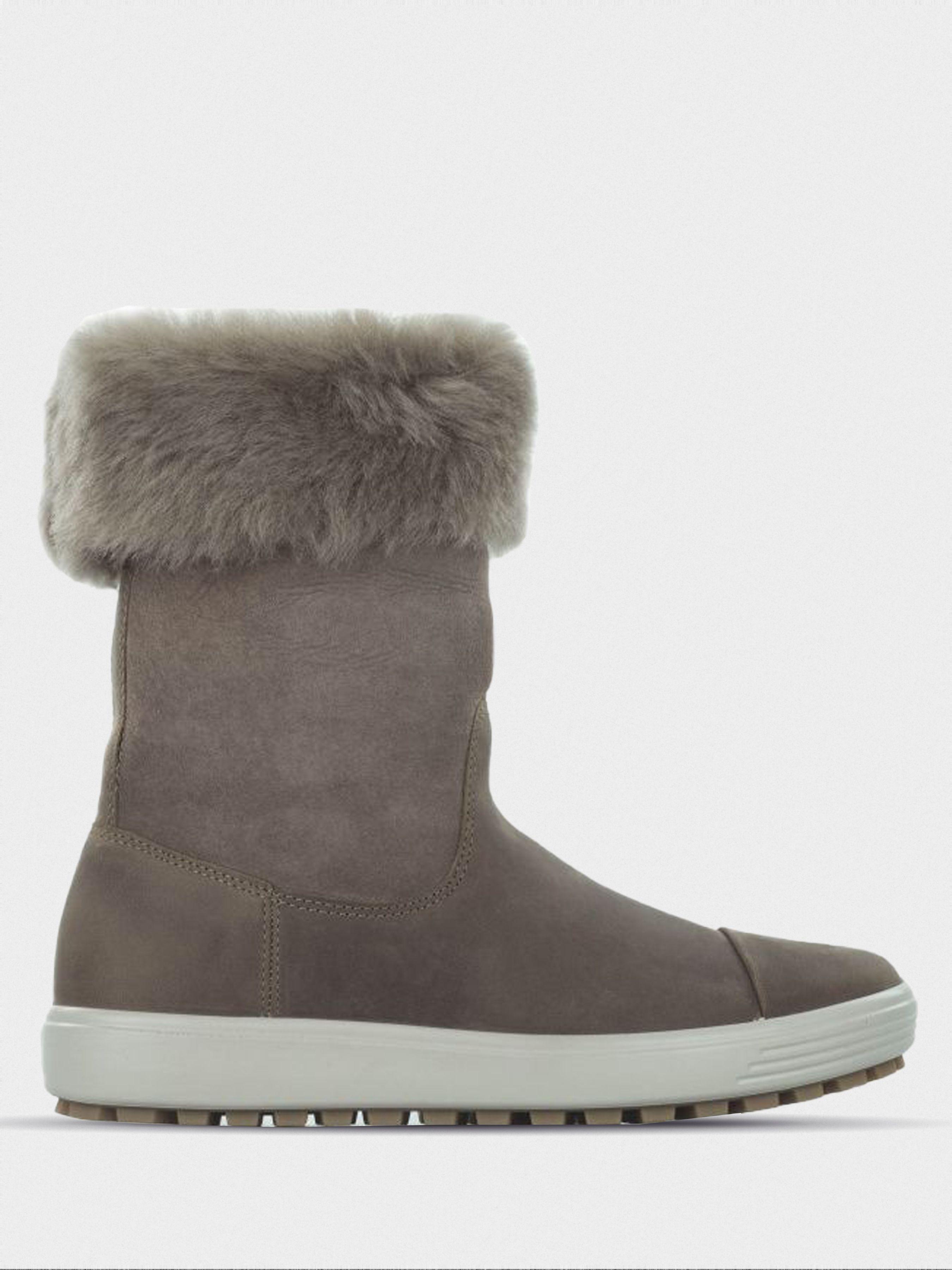 жіночі чоботи ecco soft 7 tred 450143(57511) нубукові