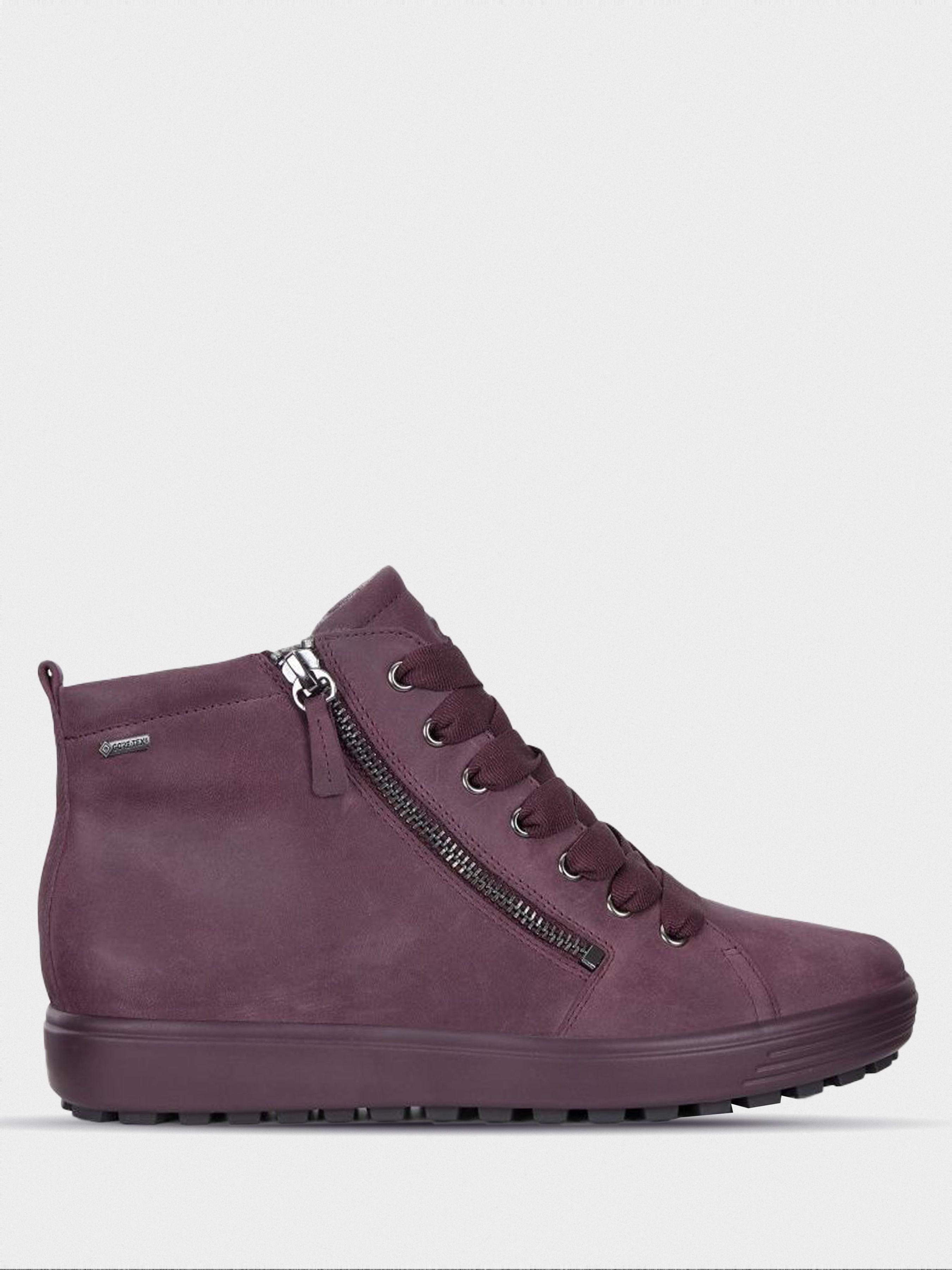 жіночі черевики ecco soft 7 tred 450163(02278) нубукові