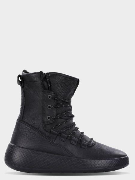 жіночі чоботи ecco ukiuk 221053(02001) нубукові