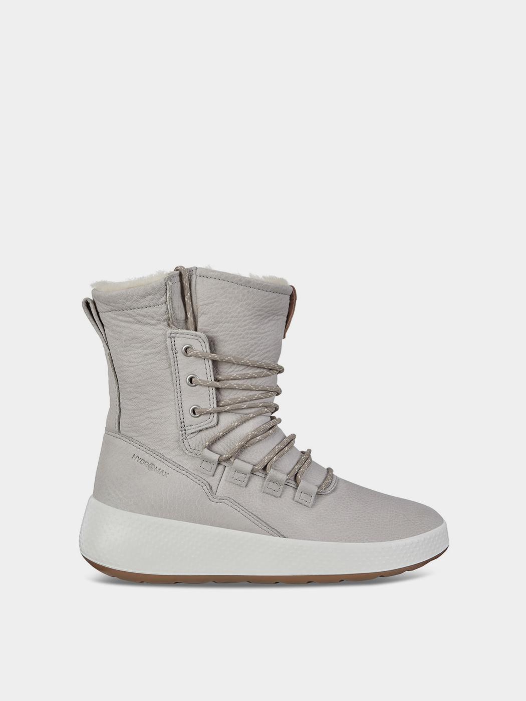 жіночі чоботи ecco ukiuk 221053(02539) нубукові