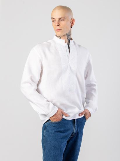 Сорочка з довгим рукавом Etnodim модель apollo_white_etnd — фото - INTERTOP