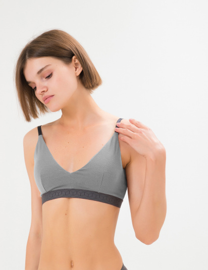 Бюстгальтер SMPL Underwear модель br.w.03.grey.cup — фото - INTERTOP
