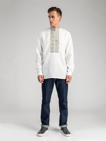 Сорочка з довгим рукавом Etnodim модель ed17white_etnd — фото 2 - INTERTOP