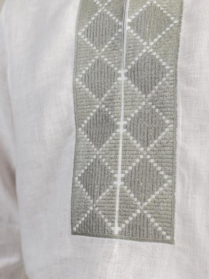 Сорочка з довгим рукавом Etnodim модель ed17white_etnd — фото 4 - INTERTOP