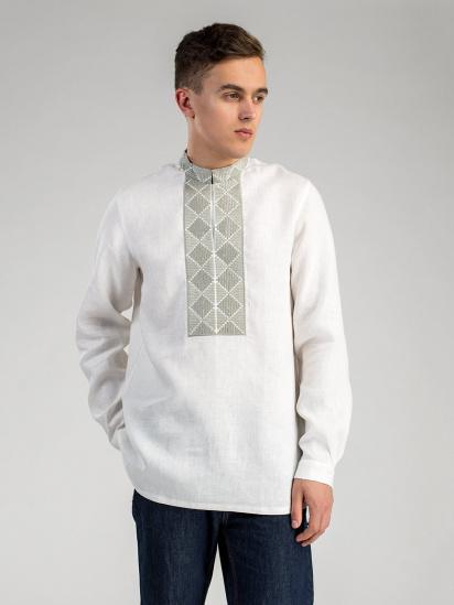 Сорочка з довгим рукавом Etnodim модель ed17white_etnd — фото - INTERTOP